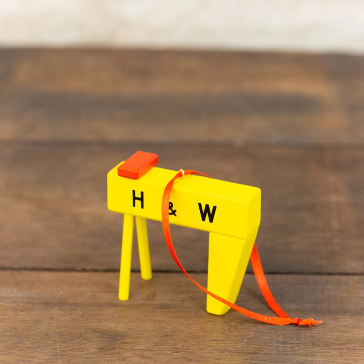 H&W CRANE CHRISTMAS TREE DECORATION