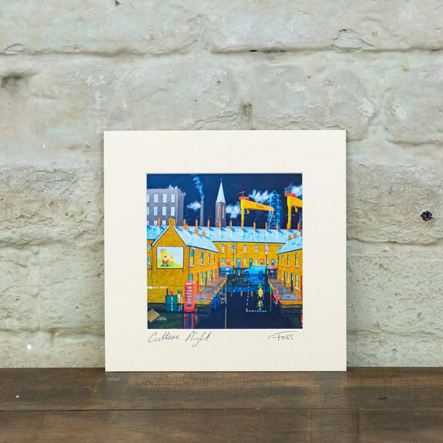 culture night Belfast foss print