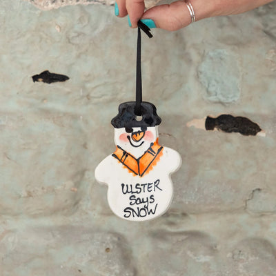 ulster says snow snowman decoration