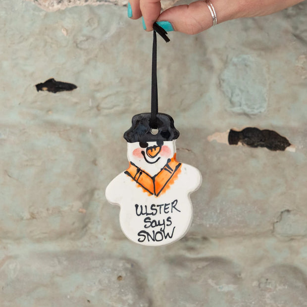 SNOWMAN TREE DECORATION - ULSTER SAYS SNOW