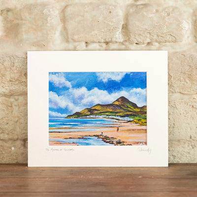 THE MOURNES AT NEWCASTLE - ART PRINT