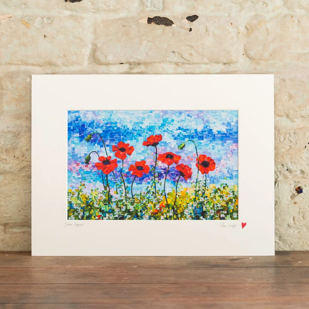 seven poppies art print