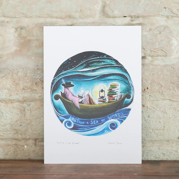 Lost in a sea of words print