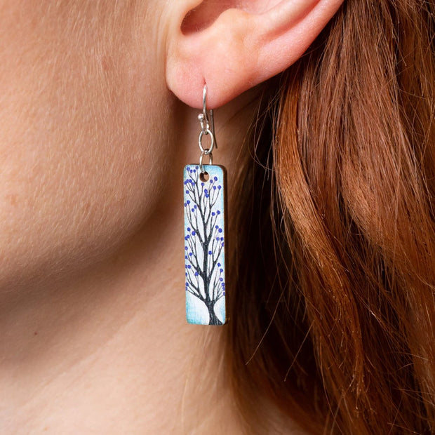 tree drop earrings