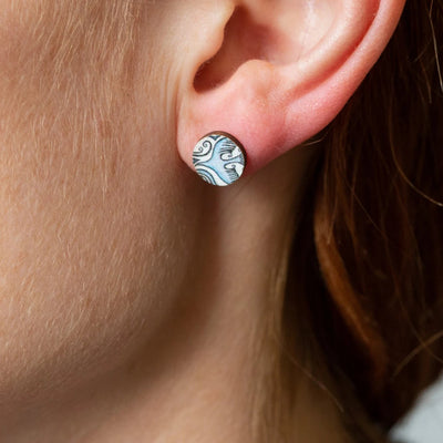 flight path stud earrings