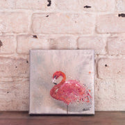 original flamingo painting chantalle coombes