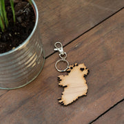 ireland heart keyring