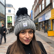 OUR SIGNATURE POM POM HAT - GREY