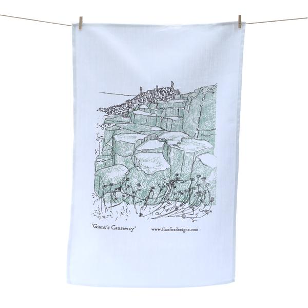 giants causeway tea towel