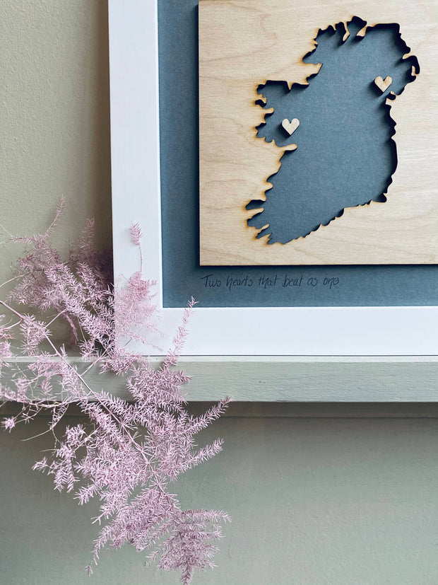 Personalised Ireland Map - Grey