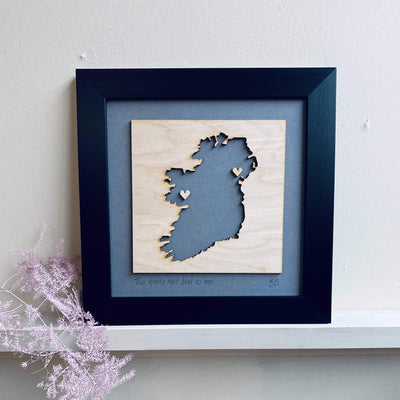 wooden ireland love map