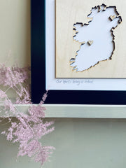 Personalised Ireland Map - White