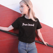 'Pure beaut' black tee