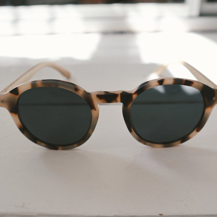 lines and current tort bamboo sunglasses