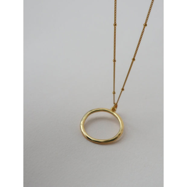 New Moon Open Circle Pendant Necklace