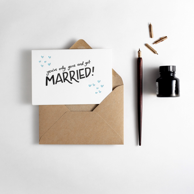 only gone & got married card
