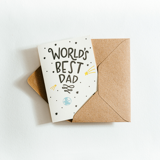 Worlds best dad card