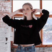 black retro awk hiya jumper