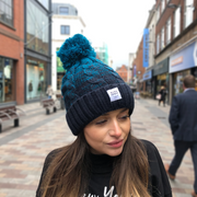 OUR SIGNATURE POM POM HAT - TEAL