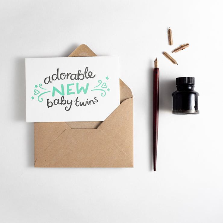 baby twins card