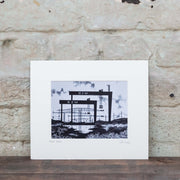 belfast docks art print