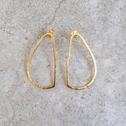 oval drop earring gold