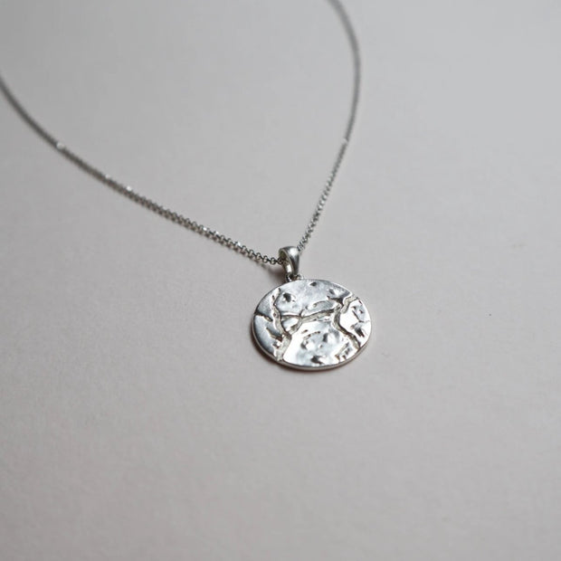 cosmo coin necklace silver