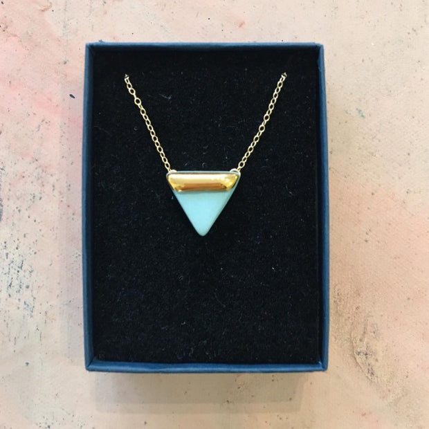 triangle necklace mint