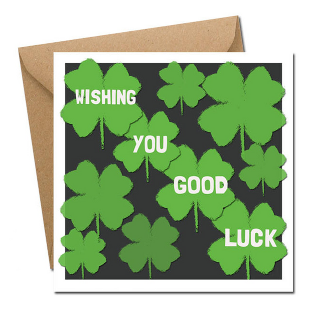 wishing good luck card