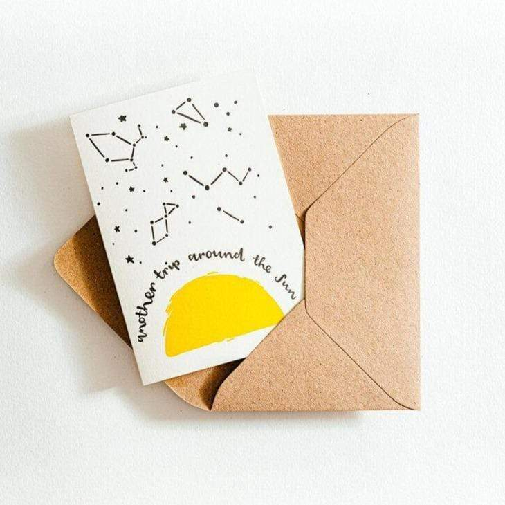 another trip around the sun recycled card