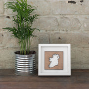 Ireland Wooden Map (White Frame)