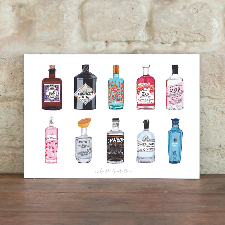 mix of gins print