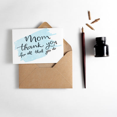 mum thank you card
