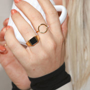 'ODA' Open Circle Ring - Gold | Silver