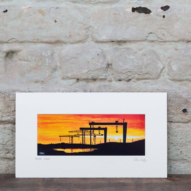 Belfast Sunset Docks - Art Print