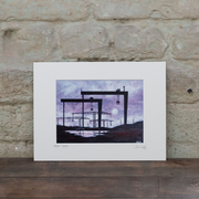 Moonlight Belfast Docks Print