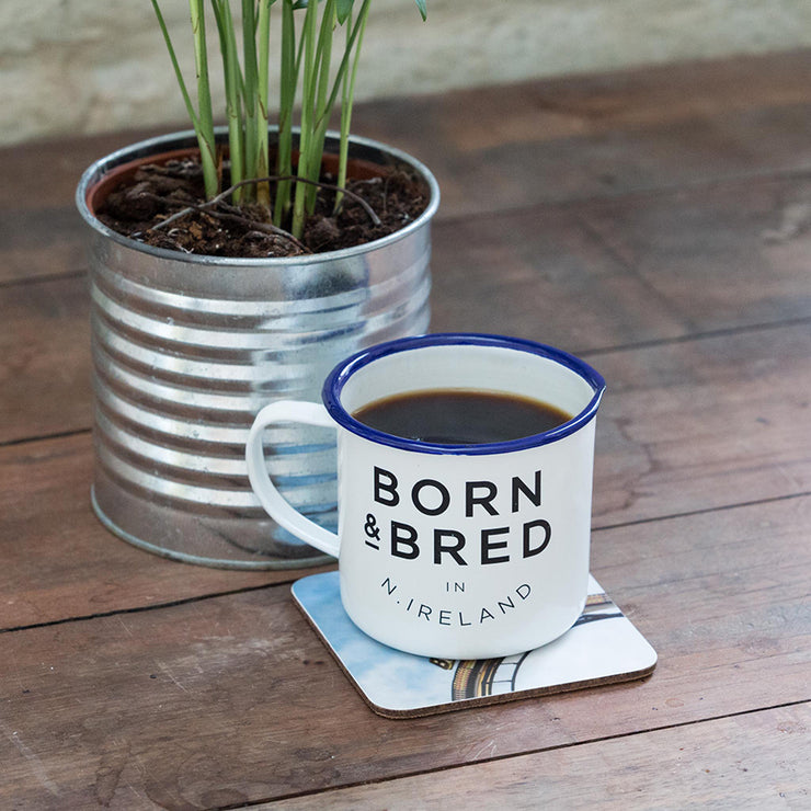 Born & Bred white mug