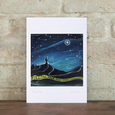 follow your star a4 print