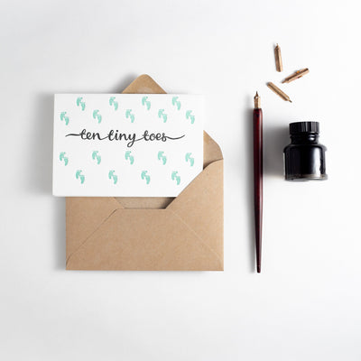 Ten Tiny Toes Card