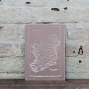 silver brown foil ireland print
