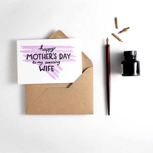 amazing wife mothers day card