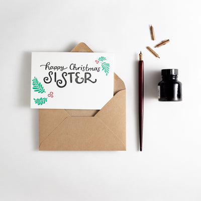 happy christmas sister card