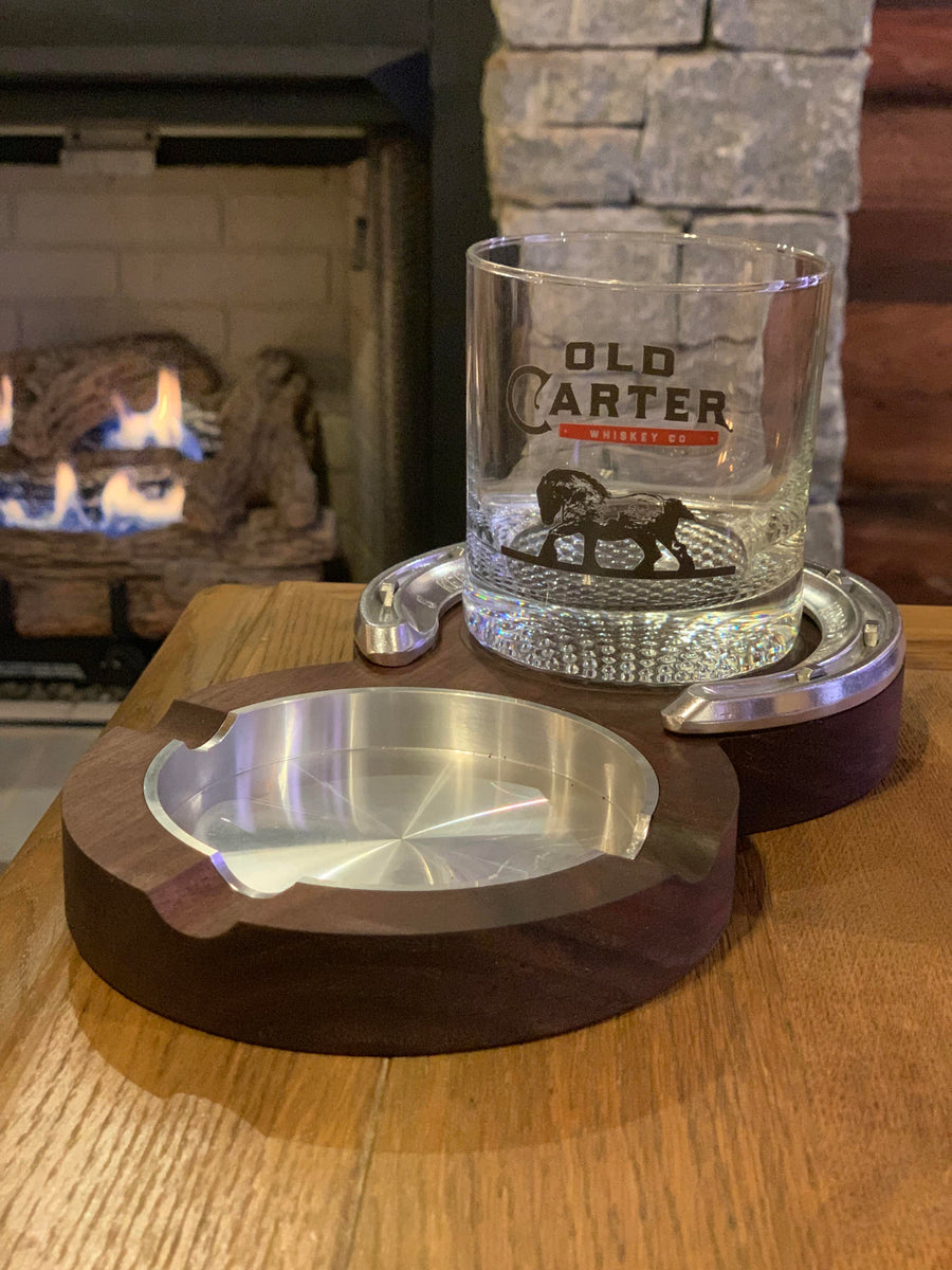 The Kentucky Double Coaster and Ashtray - Black Walnut