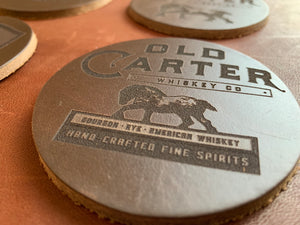 Old Carter Leather Coaster