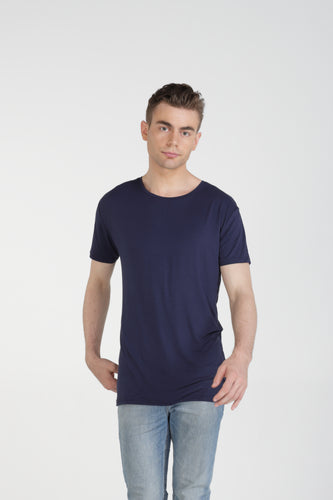 Classic Fit Bamboo Tee - Navy