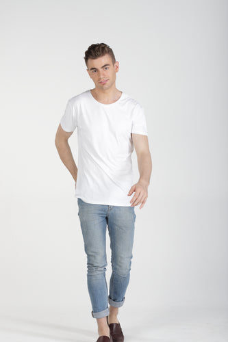 Classic Fit Bamboo Tee - White