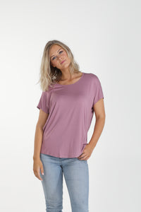Relaxed Fit Batwing Bamboo Tee - Blush (MkII)