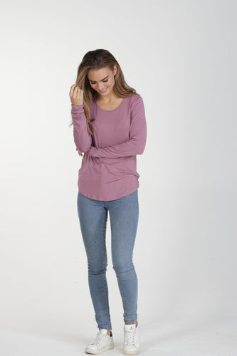 Classic Crew Bamboo Long Sleeve - Blush