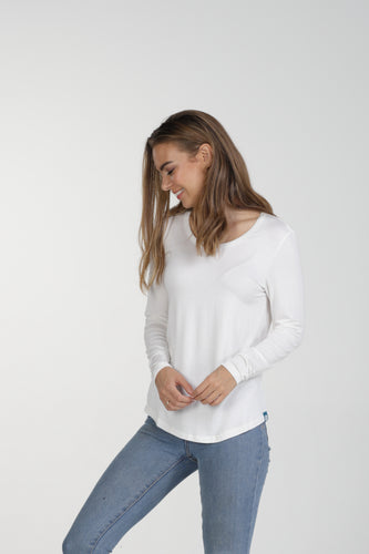 Classic Fit Bamboo Long Sleeve - White