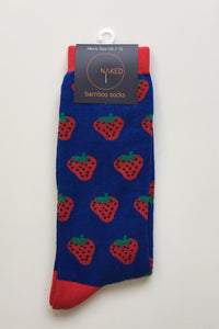 Men's Bamboo Socks - Strawberry